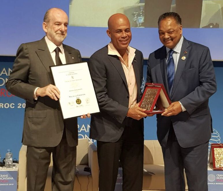 """""""Je le reçois avec humilité"""", dit l'ancien président Michel J. Martelly. /Photo : Michel Martelly (Twitter)"""