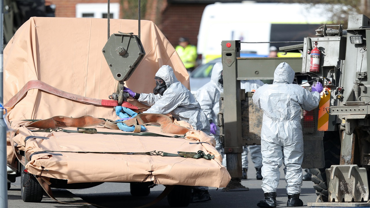 (Image: AP: Investigators at work in Salisbury, UK)