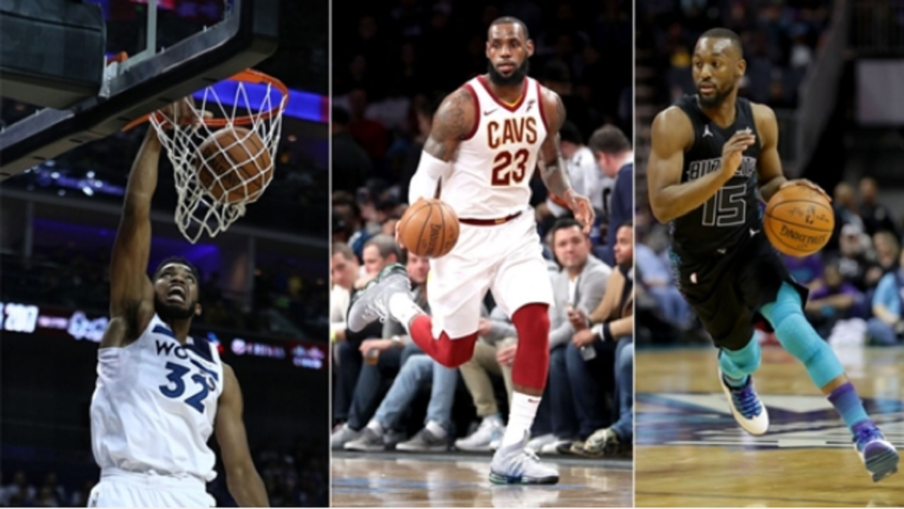 Karl-Anthony Towns, LeBron James, Kemba Walker.