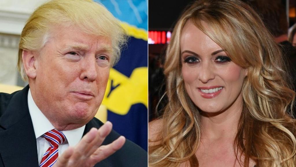 Donald Trump et L'actrice porno Stormy Daniel. AFP