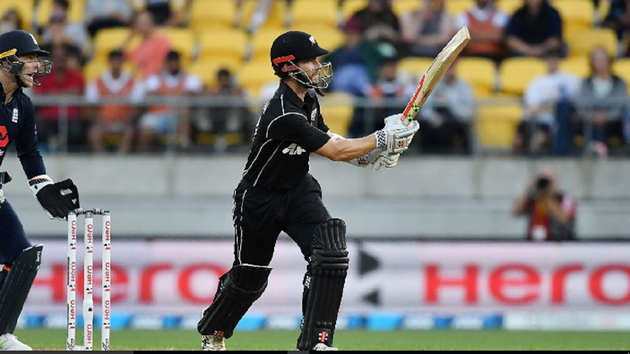 Kane Williamson batting for New Zealand.