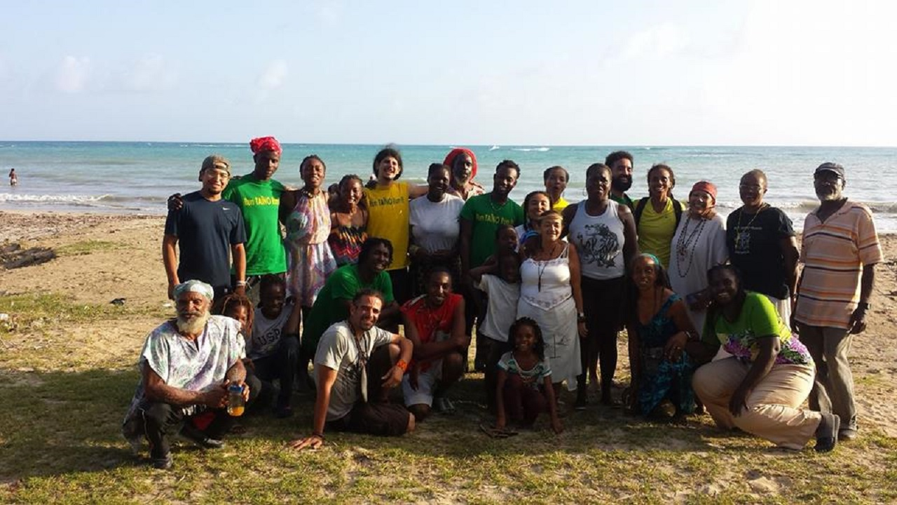 The runners pose for a photo during the community day at the Rudolph Elder Park in Morant Bay.