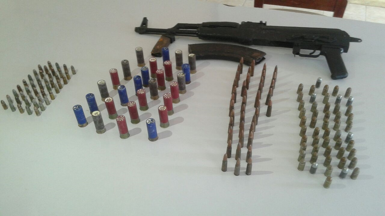 The seized AK-47 and more than 160 rounds.