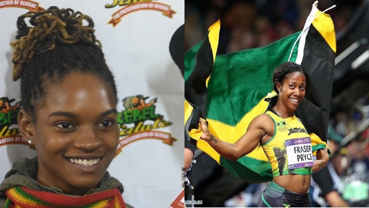 (Koffee, left, and Shelly-Ann Fraser-Pryce, right)