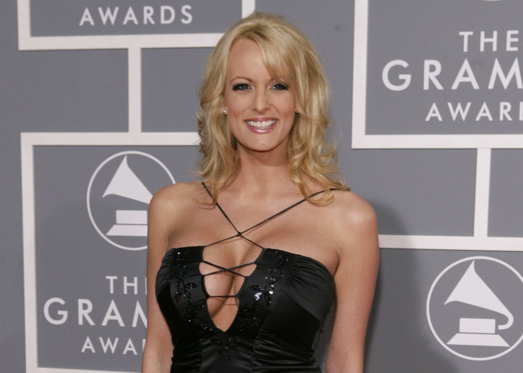 Adult film actress Stormy Daniels arrives for the 49th Annual Grammy Awards in Los Angeles. (AP Photo/Matt Sayles, File)