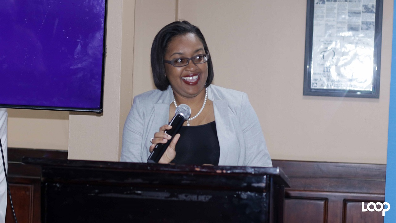 Chairperson of the Kingston Book Festival, Jodie McBean Douglas speaking at the launch of the event last week.