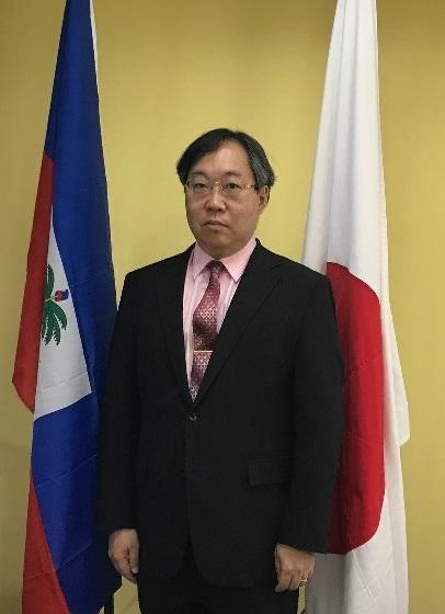 l'Ambassadeur du Japon en Haiti. Photo de l'ambassade du Japon en Haiti