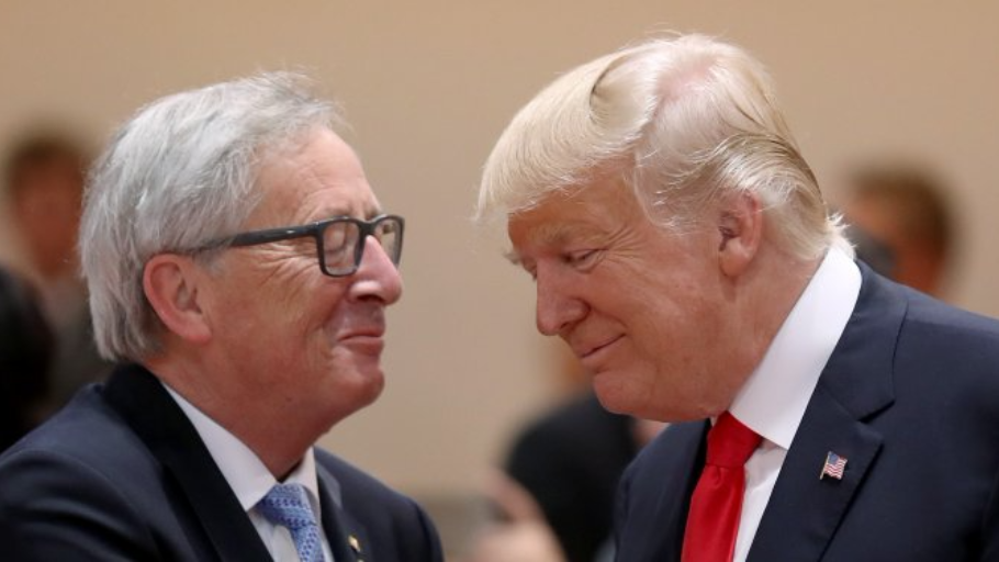 President of the EU Commission, Jean-Claude Juncker and US President Donald Trump