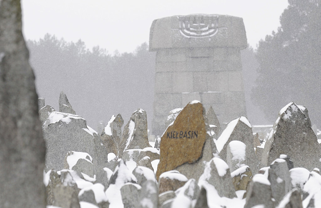 The Memorial on the grounds of the former German Nazi Death Camp Treblinka, near the village of Treblinka, northeast Poland. (AP Photo/Alik Keplicz, File)