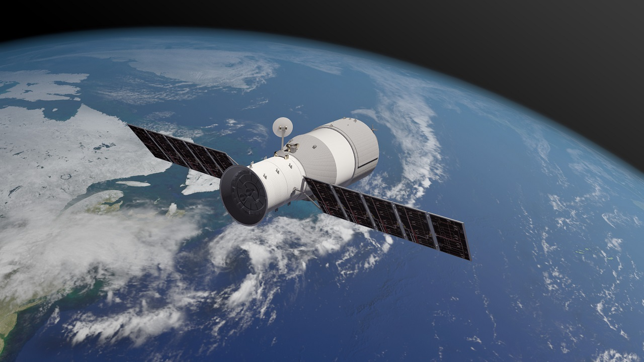 (Image: Artist's impression of Tiangong-1, courtesy of Aerospace Corporation)