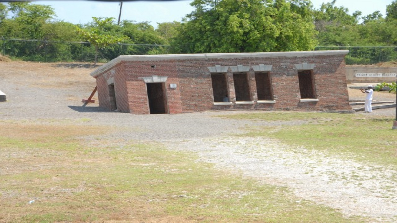 Photo of Giddy House, Port Royal via the Jamaica Information Service.