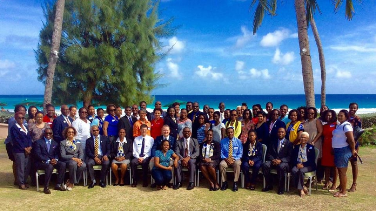 Optimist International Caribbean District members in a group photo.