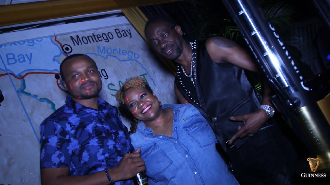 Dancehall star Bounty Killer (right) with Red Stripe senior brand manager Nasha Douglas and Nathan Nelms, assistant brand manager of Stouts and Malta at Red Stripe.