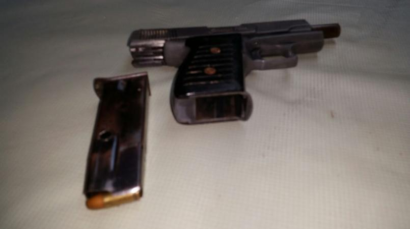 File photo: firearm seized by the police
