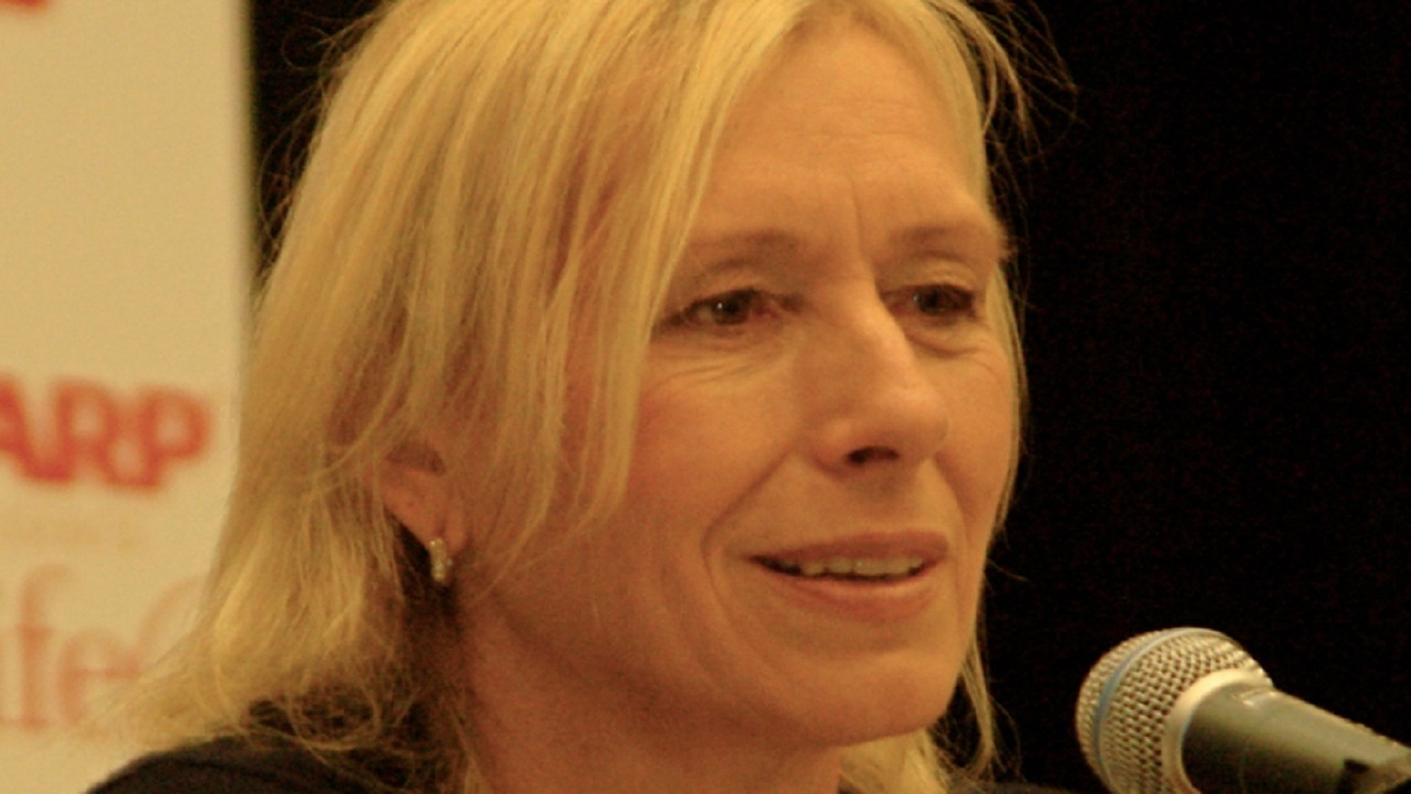 (Image: Angela George, file image of Navratilova from September 2011)