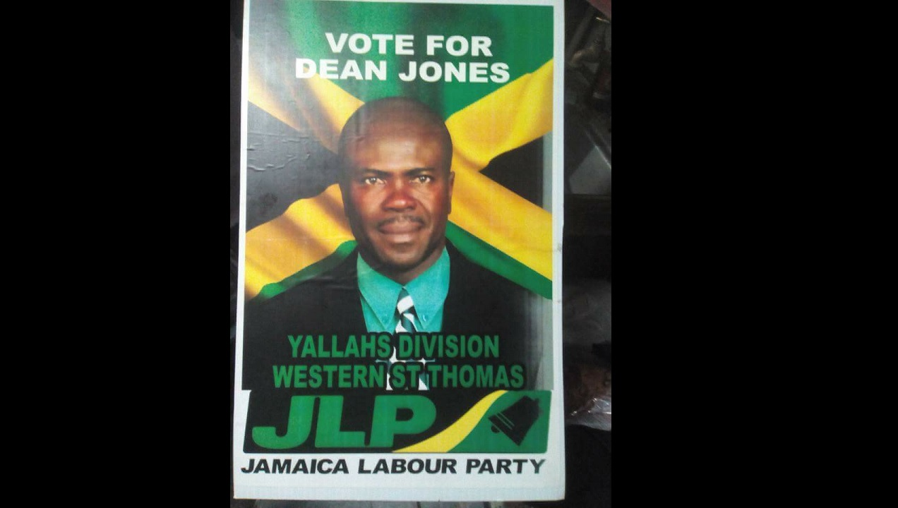 The Jamaica Labour Party's Dean Jones, who was ousted from the position of Councillor for the Yallahs Division by a court ruling.
