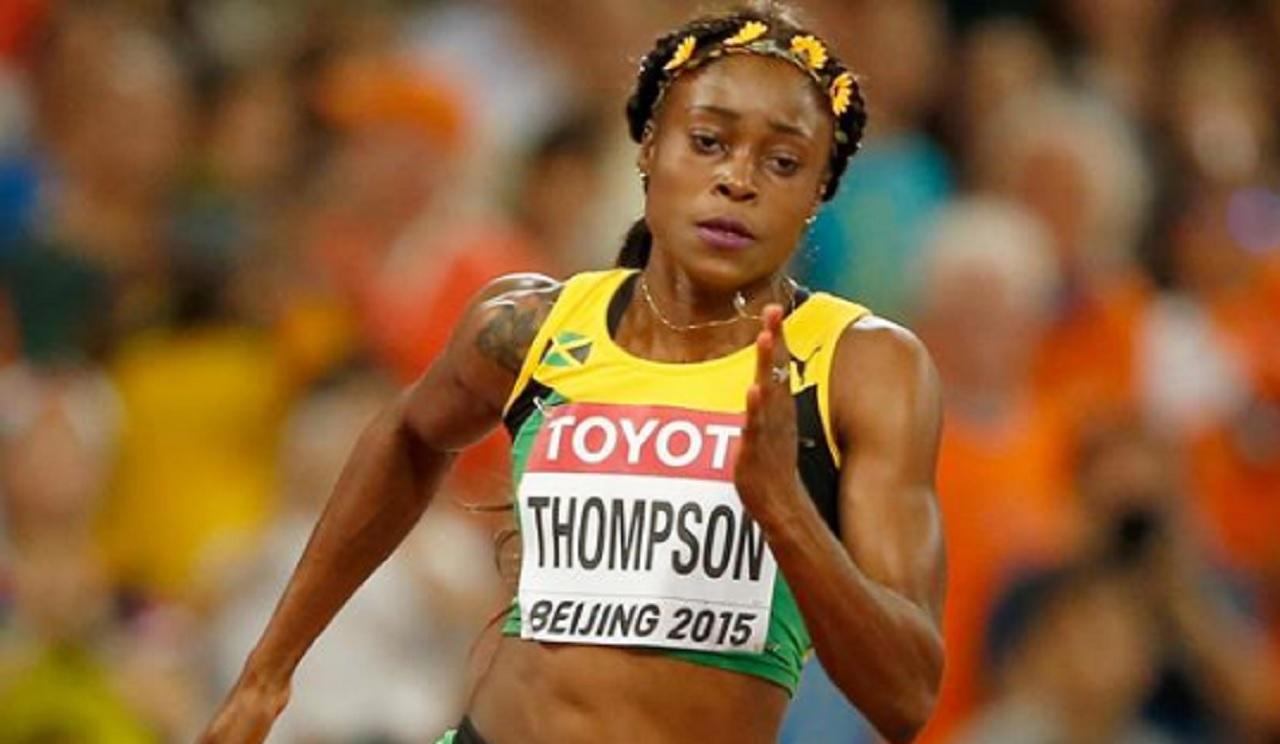 Double Olympic champion Elaine Thompson.