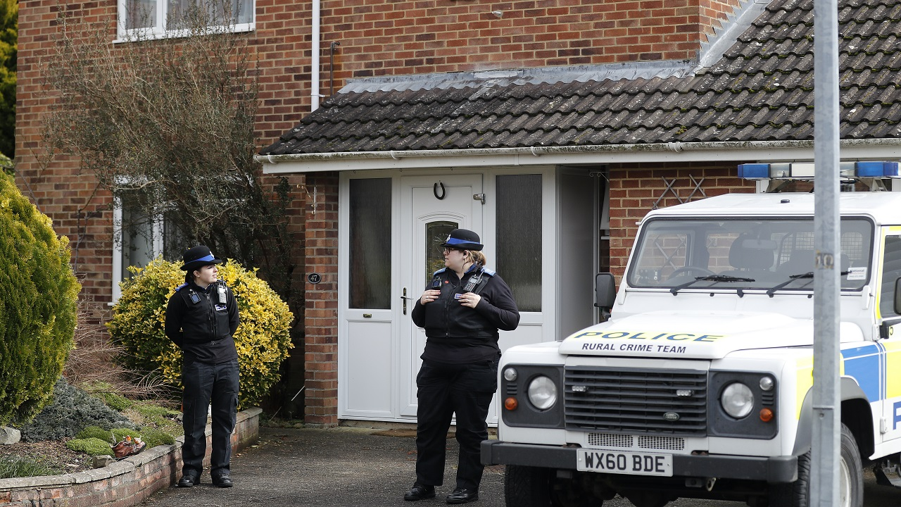 (Image: AP: Sergei Skripal's house, pictured on 6 March 2018)