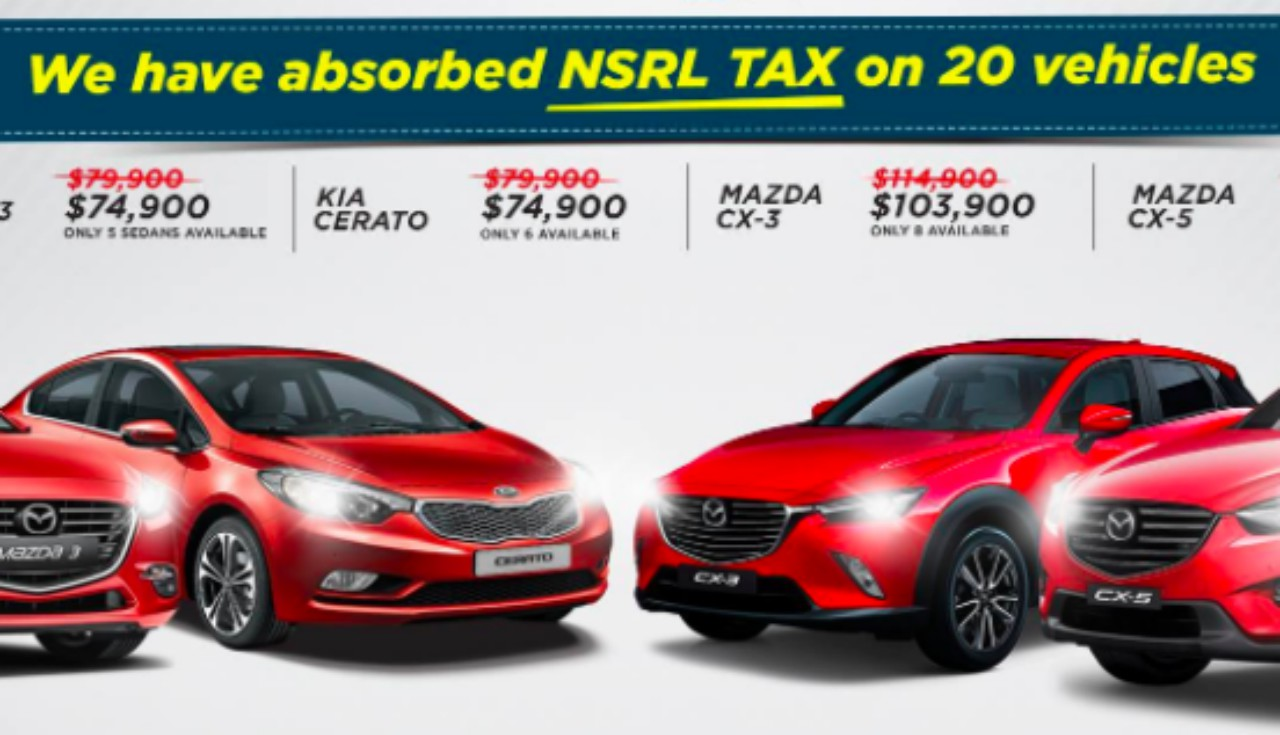 NSRL slashed from prices