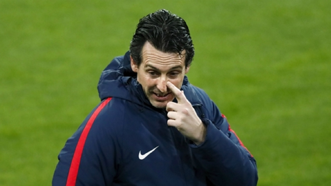 PSG head coach Unai Emery.