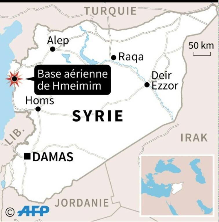 Le 6 mars vers 15H00 (12H00 GMT), un avion de transport An-26 s'est écrasé sur l'aérodrome de Hmeimim. Localisation de la base de Hmeimim en Syrie