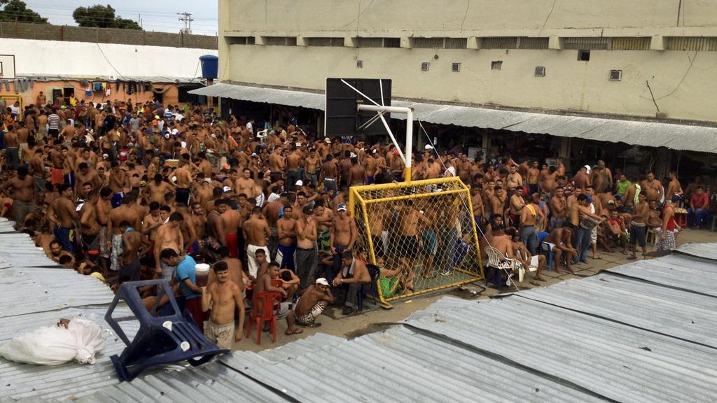 Een overvolle gevangenis in Venezuela. Foto: NPR