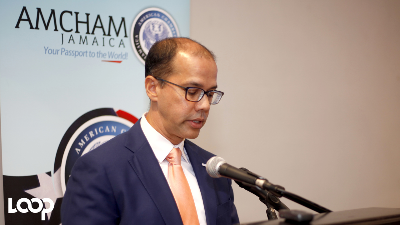 President of AMCHAM T&T Mitchell De Silva speaking at the launch. (PHOTOS: Shawn Barnes)