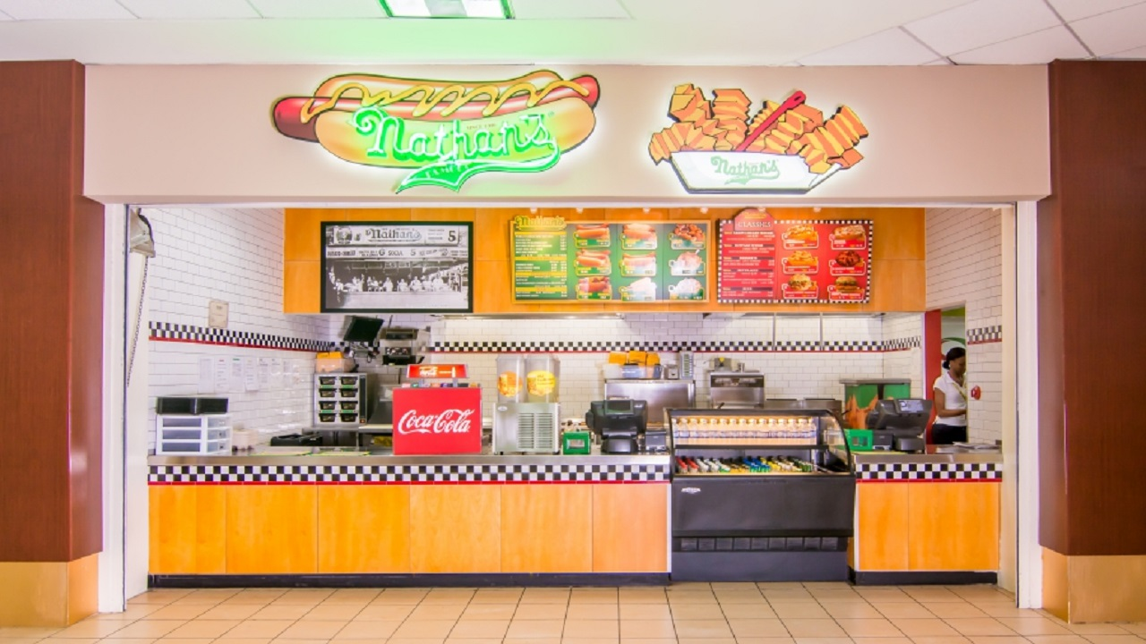 Express Catering is the local operator of Nathan's Hot Dog at the Sangster International Airport.