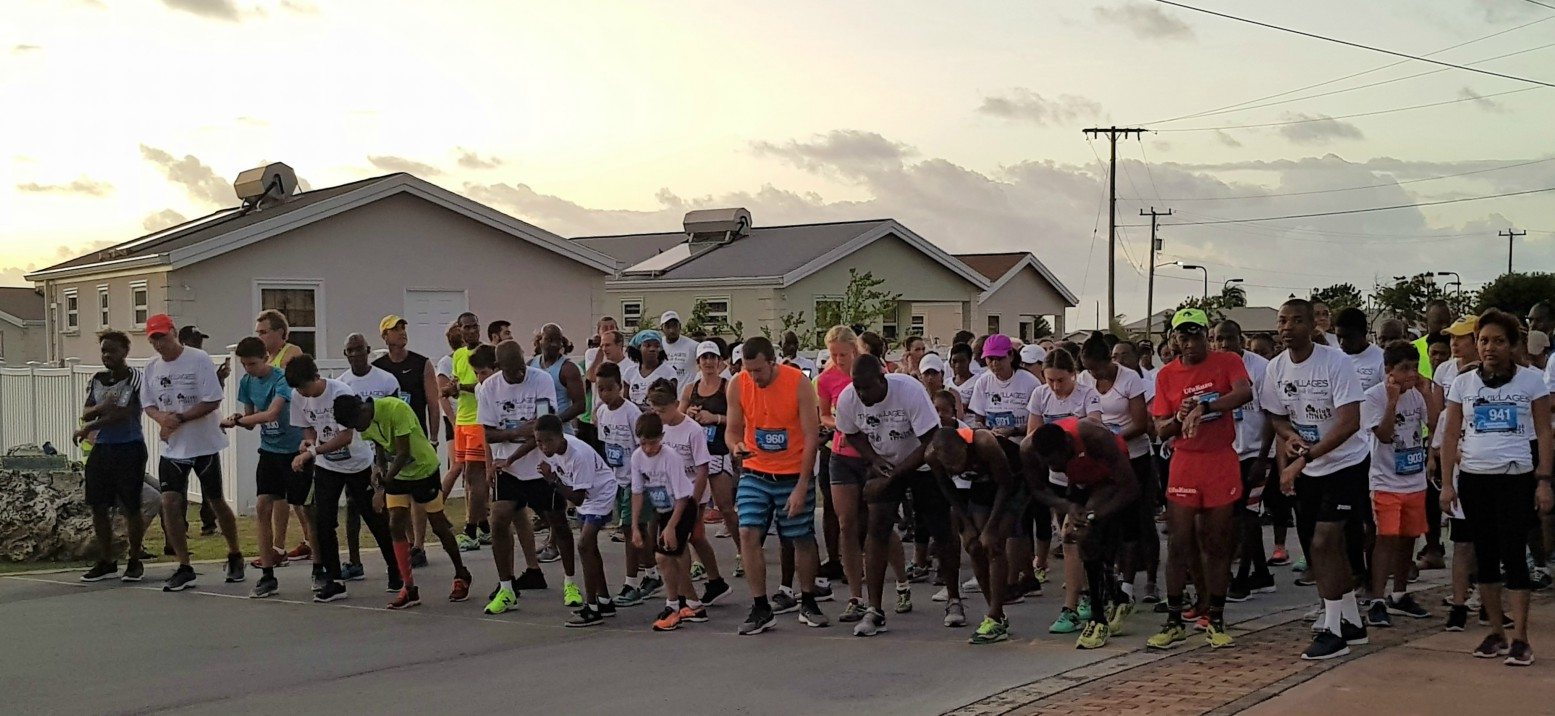 (Participants in the Villages at Coverley 5K Run/Walk)