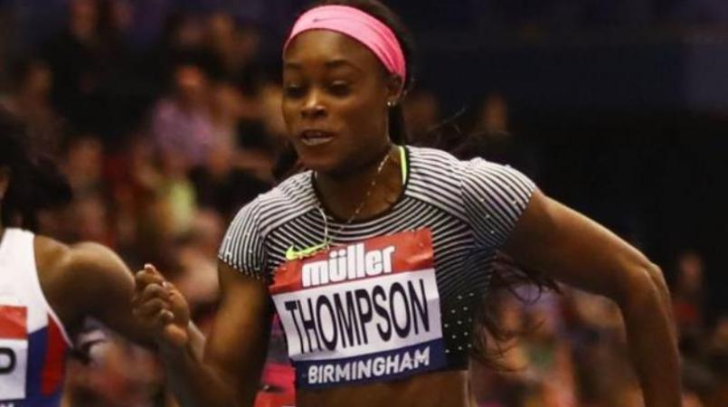 Double Olympic sprint champion Elaine Thompson.