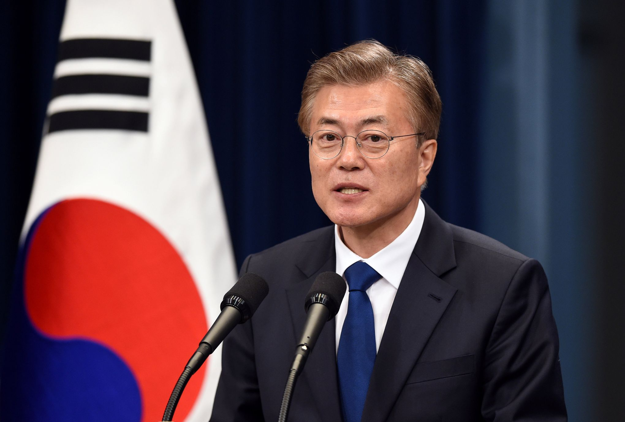 Le président Sud Coréen Moon Jae-in./ Credit photo: Le Figaro