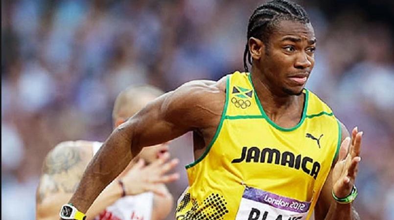 Jamaican sprinter Yohan Blake.