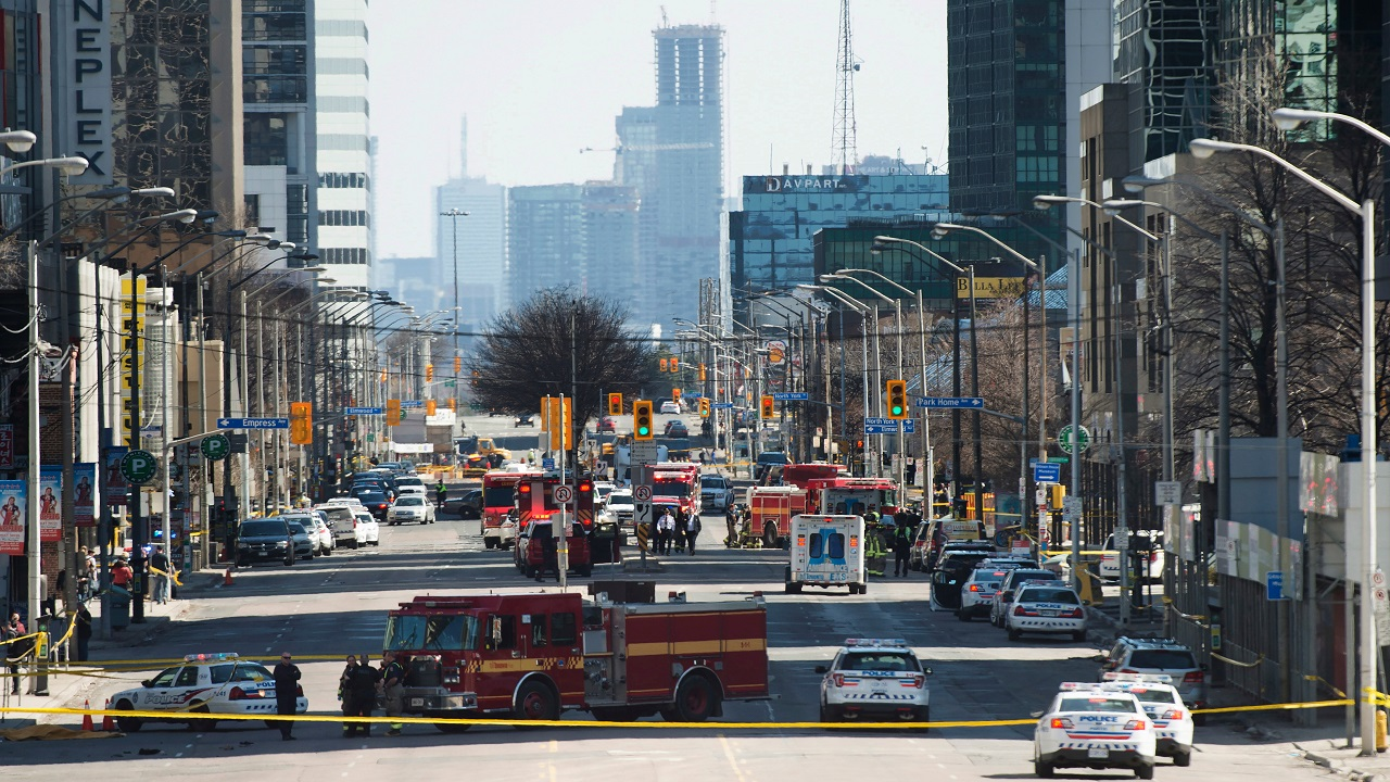 (Image: AP: The scene of the incident in Toronto on 23 April 2018)