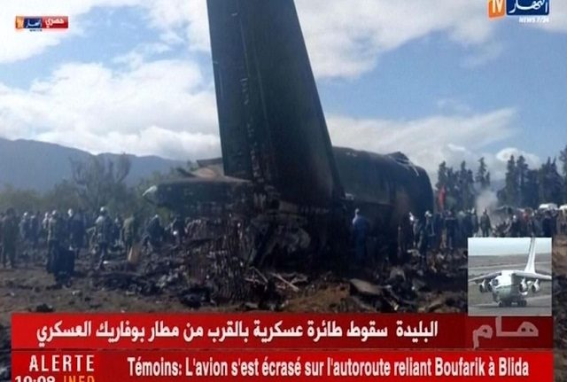 At Least 100 Killed as Military Plane Crashes in Algeria