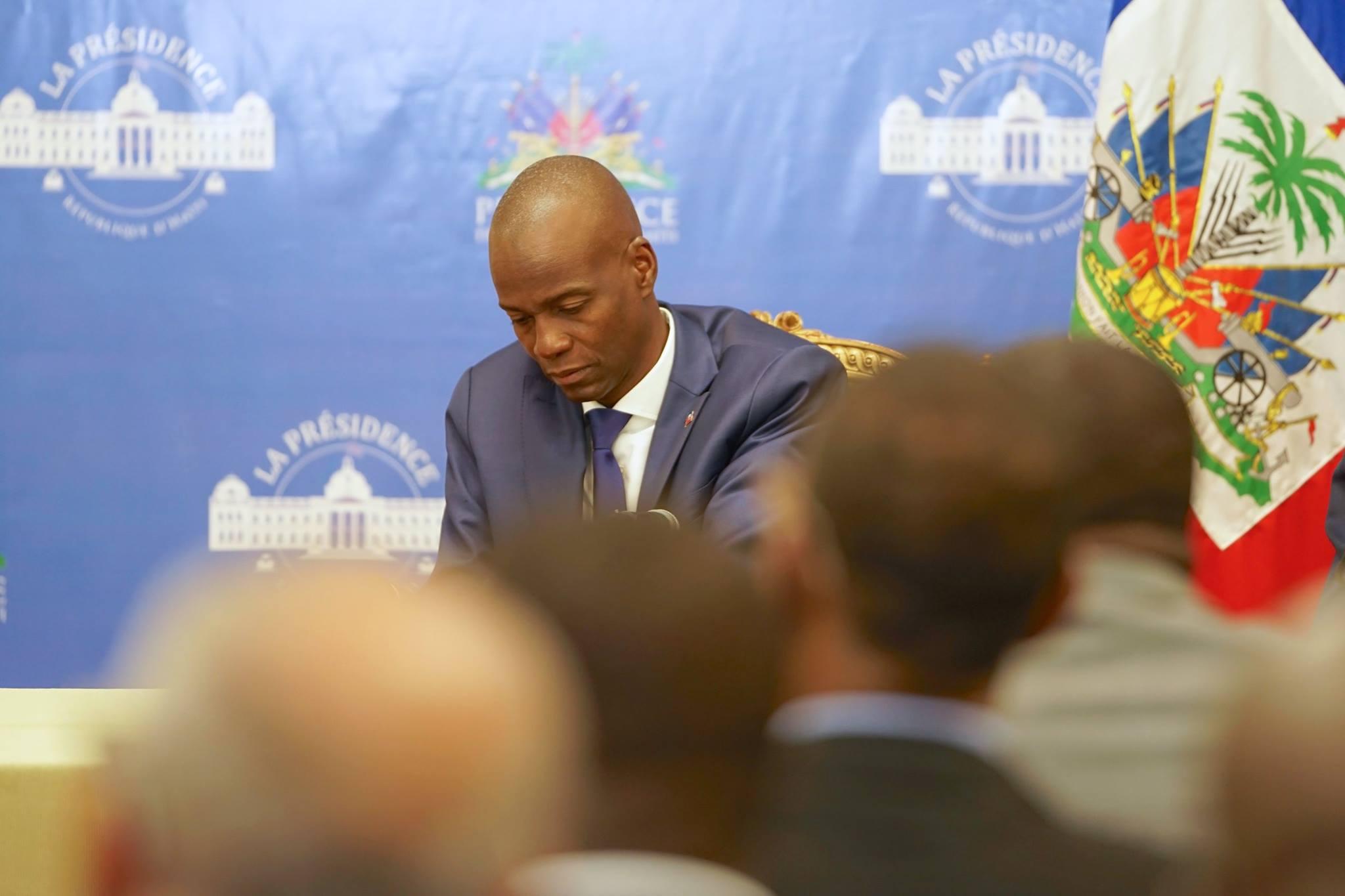 Le président Jovenel Moise au palais National, 11 octobre 2017./ Photo : Président Jovenel Moise (Facebook)