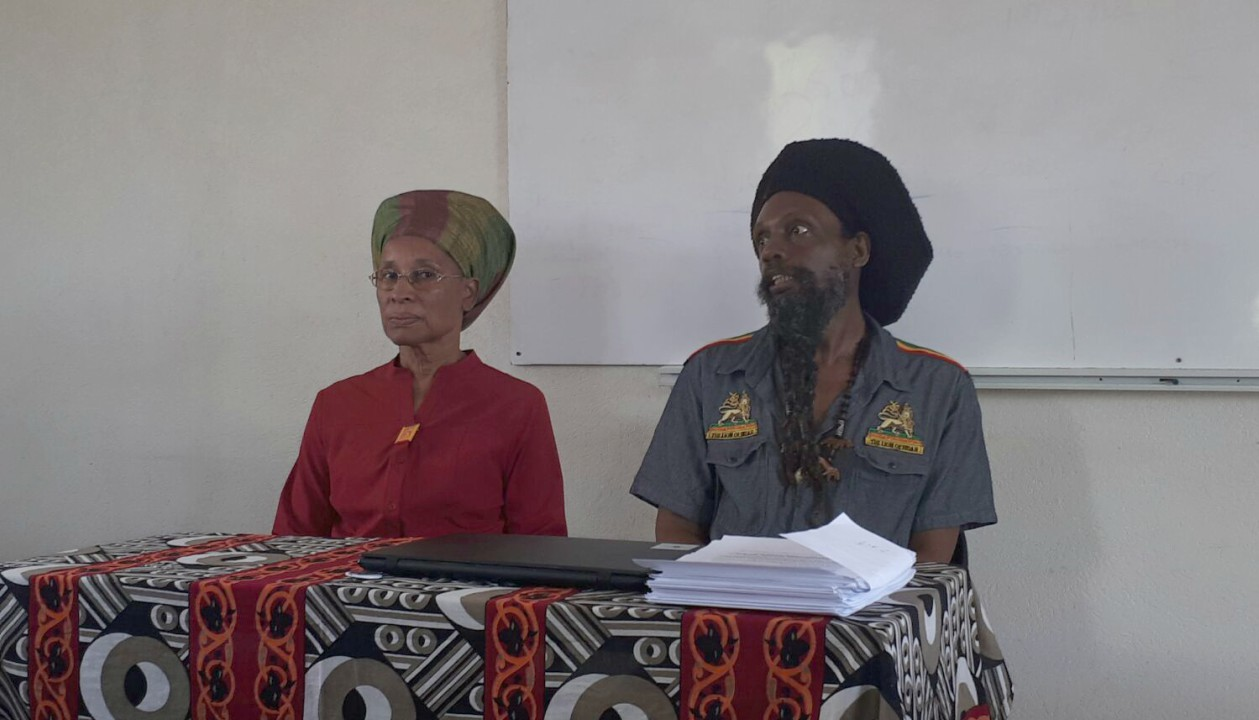 Trustee of the AHF, Keturah Babb (left) and President Paul 'Ras Simba' Rock (right).