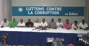 Les membres du Collectif du 4 décembre lors d'une conférence de presse. Photo : Collectif du 4 décembre