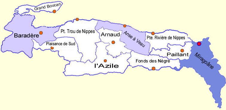 Léger tremblement de terre dans les Nippes, confirmé par la Protection civile. | Google maps