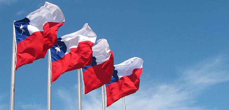 Le drapeau chilien.