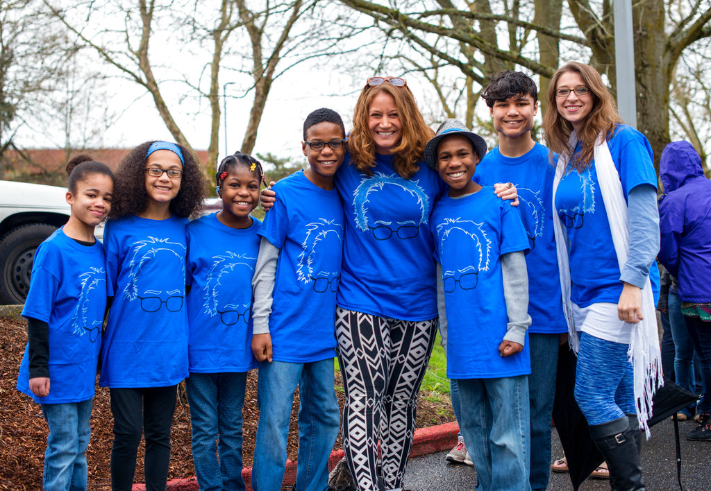 This March file photo shows Hart family of Woodland, Washington, at a Bernie Sanders rally in Vancouver, Wash. (Tristan Fortsch/KATU News via AP)