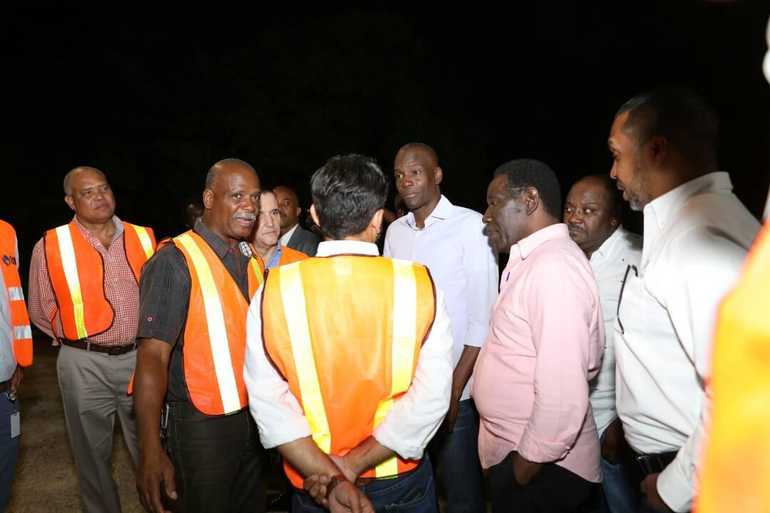 Le président Jovenel Moise en visite à l'Aéroport international Toussaint Louverture, 22 mars 2018. Photo: Président Jovenel Moïse (Twitter)