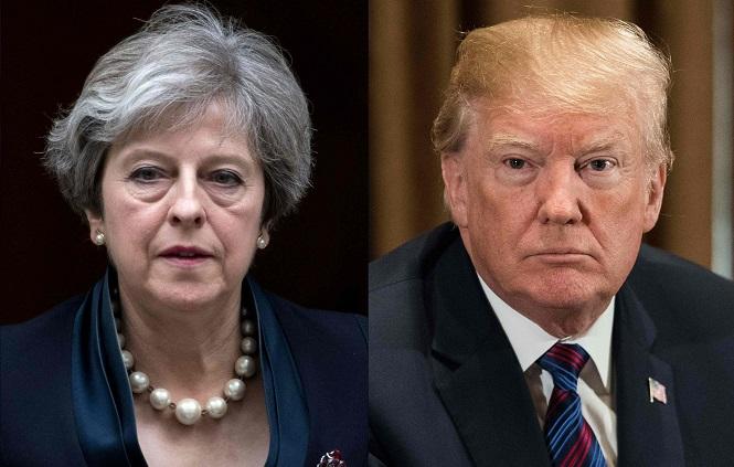 Le déplacement du président américain au Royaume-Uni constitue un véritable casse-tête pour le gouvernement britannique en raison de la menace de manifestations, les prises de positions de M. Trump, sur l'immigration notamment, ayant suscité des torrents d'indignation. (Crédit photo : AFP)