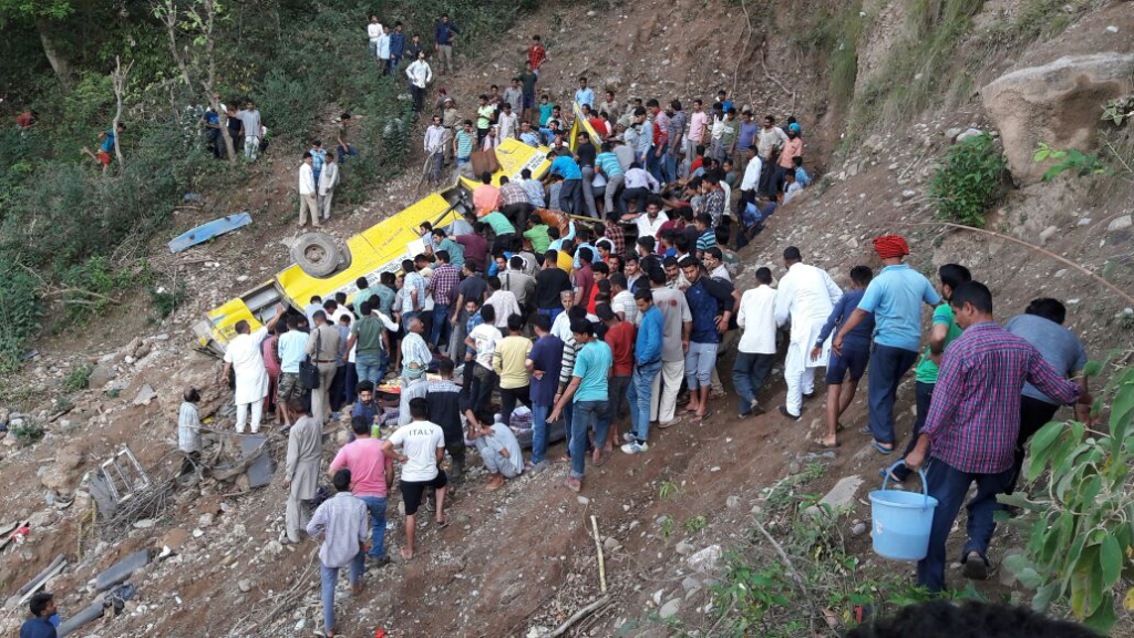 Indian School Bus Plunges Into Gorge, 'Killing 27 Children'