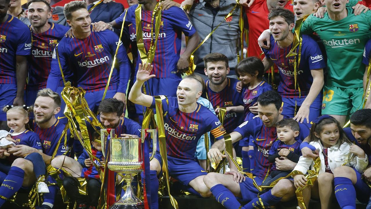 Barcelona thrash Sevilla to win King's Cup again