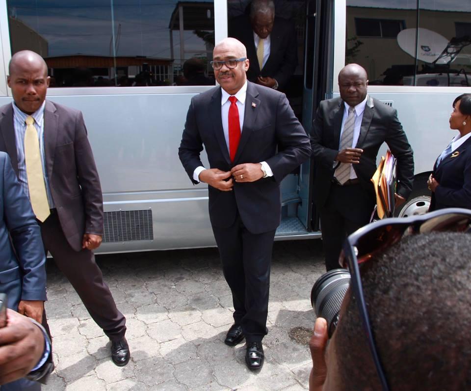 Jack Guy Lafontant au Parlement haïtien, 15 mars 2017, pour prononcer sa déclaration de politique générale devant l'Assemblée nationale. Photo : Jack Guy Lafontant (Facebook)