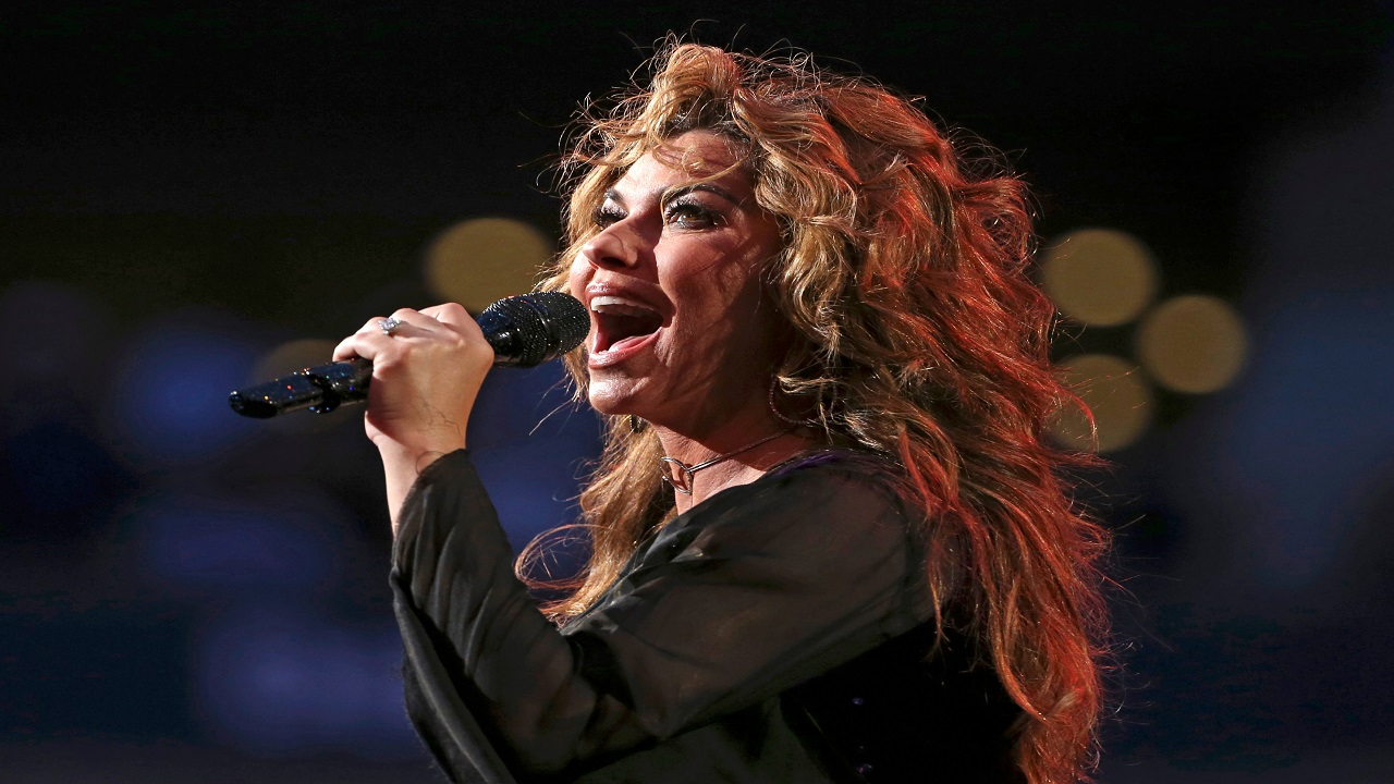 FILE - In this Aug. 28, 2017, file photo, Shania Twain performs during opening ceremonies for the U.S. Open tennis tournament in New York. (PHOTO:AP)