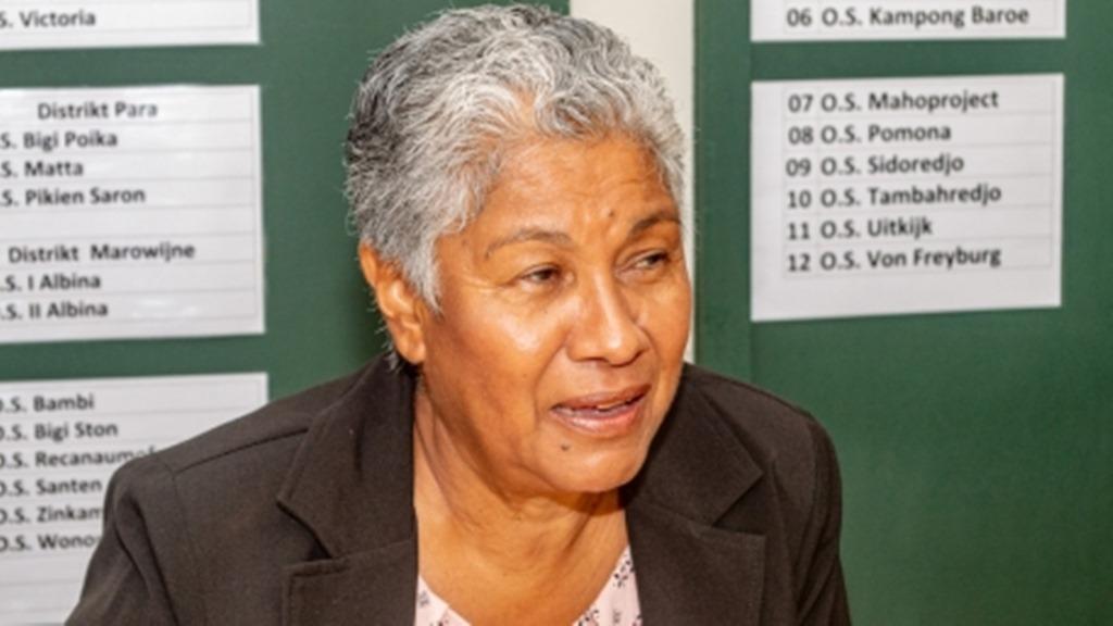 Minister Lilian Ferrier van Onderwijs, Wetenschap en Cultuur. Foto: SRHerald.