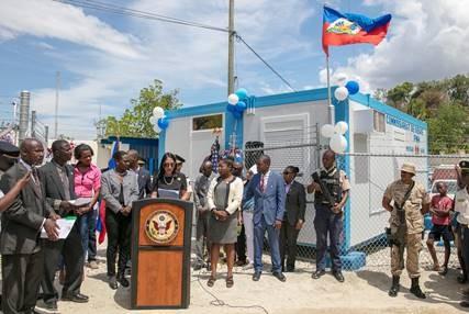 Inauguration du nouveau commissariat de Diegue / Photos: Ambassade des USA en Haiti