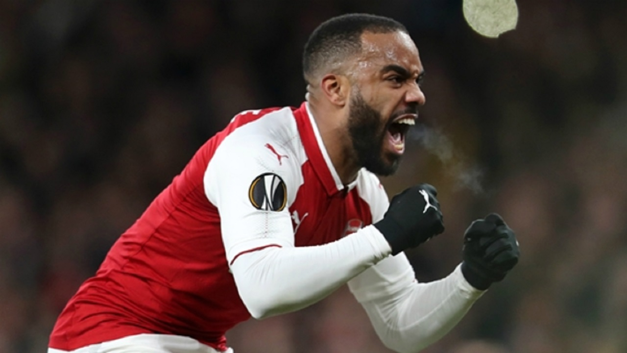 Arsenal forward Alexandre Lacazette.