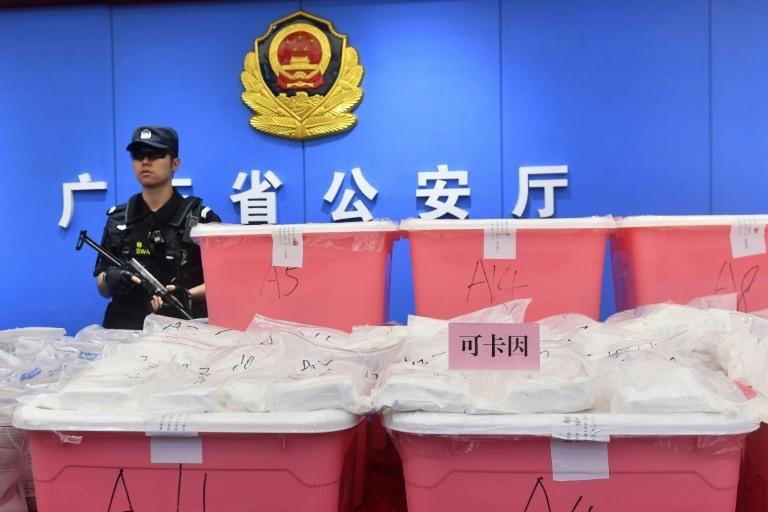 Chine, 1,3 tonne de cocaïne en provenance d'Amérique du Sud,  la plus grande prise de cette drogue jamais effectuée à l'échelle nationale, ont annoncé les autorités.\ (crédit photo : AFP)